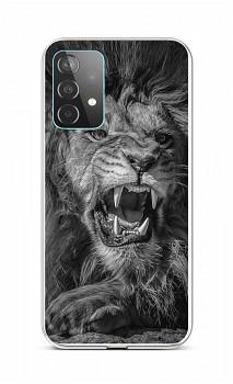 Zadní silikonový kryt na Samsung A52 Černobílý lev