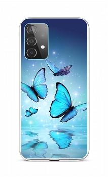 Zadní silikonový kryt na Samsung A52 Modří motýlci