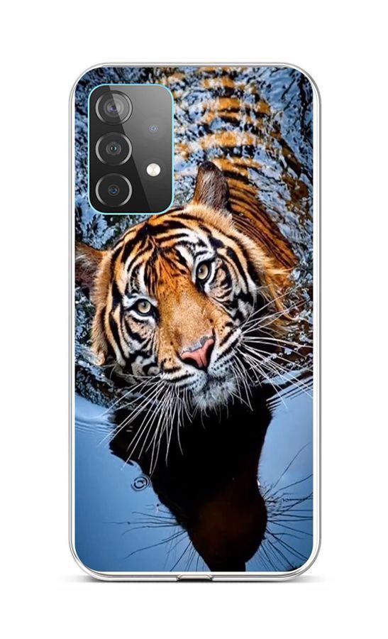 Zadní silikonový kryt na Samsung A52 Tygr