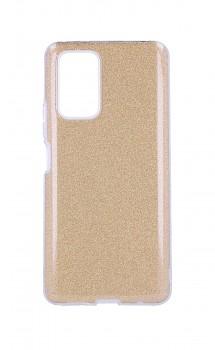 Zadní pevný kryt Forcell na Xiaomi Redmi Note 10 glitter zlatý