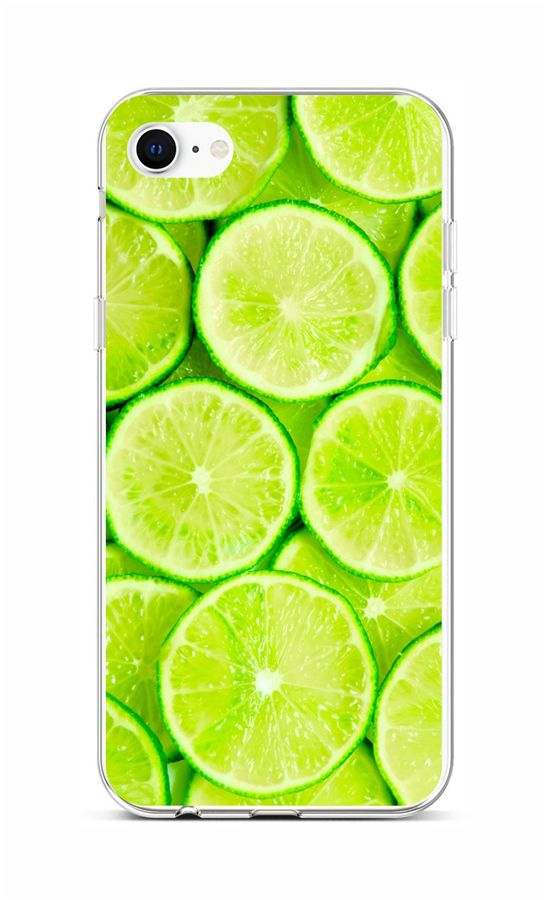 Zadní silikonový kryt na iPhone SE 2020 Limetky