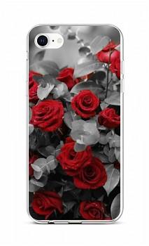 Zadní silikonový kryt na iPhone SE 2020 Červené růže mix