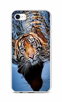 Zadní silikonový kryt na iPhone SE 2020 Tygr