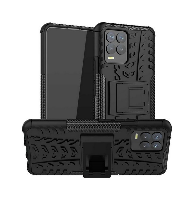 Ultra odolný zadní kryt na Realme 8 černý