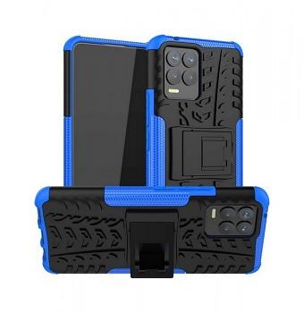 Ultra odolný zadní kryt na Realme 8 modrý
