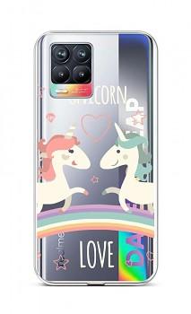 Zadní silikonový kryt na Realme 8 Unicorn Love