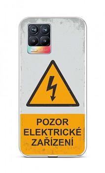 Zadní silikonový kryt na Realme 8 Pozor elektrické zařízení