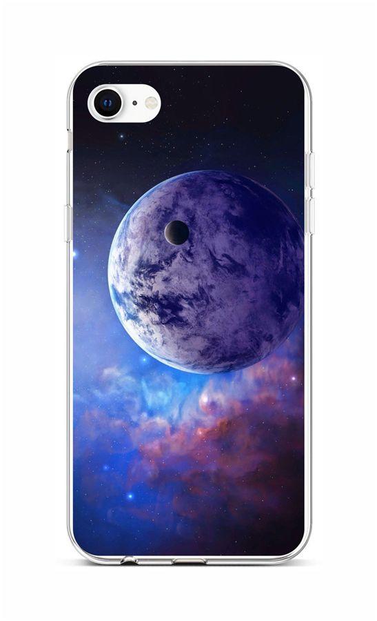 Zadní silikonový kryt na iPhone SE 2020 Planeta