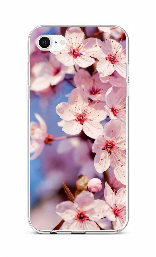 Zadní silikonový kryt na iPhone SE 2020 Sakura