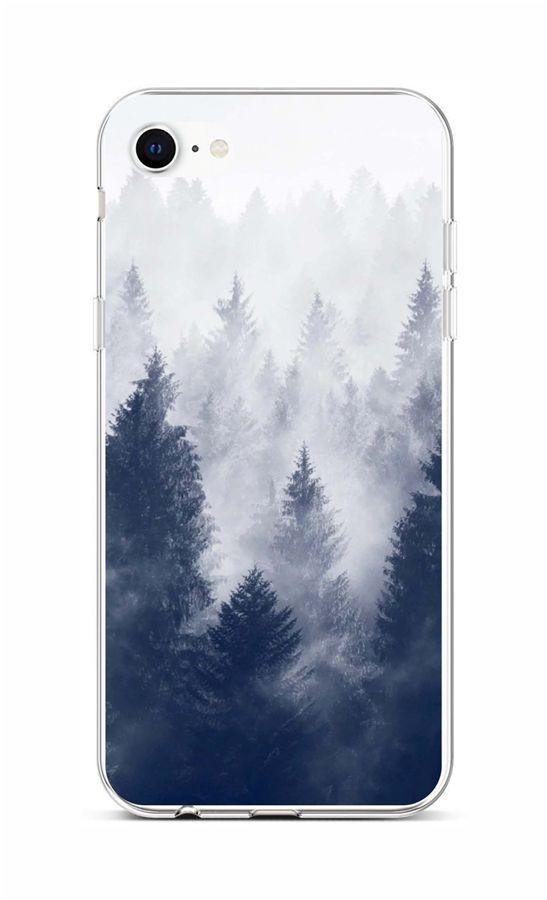 Zadní silikonový kryt na iPhone SE 2020 Mlha