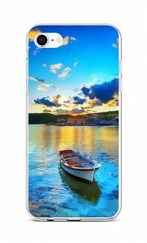 Zadní silikonový kryt na iPhone SE 2020 Loďka