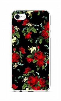 Zadní silikonový kryt na iPhone SE 2020 Květy růží