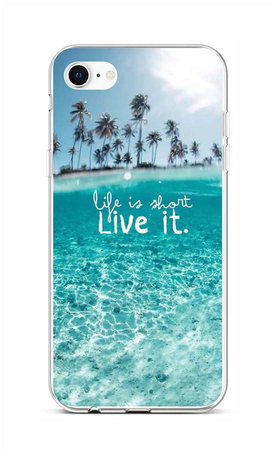 Zadní silikonový kryt na iPhone SE 2020 Moře