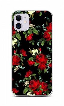 Zadní silikonový kryt na iPhone 11 Květy růží