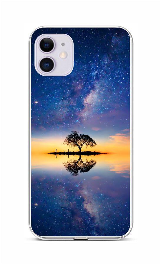 Zadní silikonový kryt na iPhone 11 Noční obloha