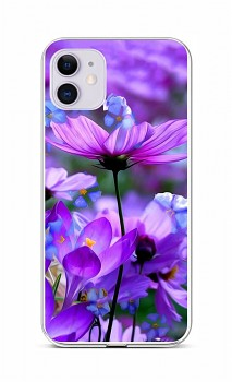 Zadní silikonový kryt na iPhone 11 Rozkvetlé květy