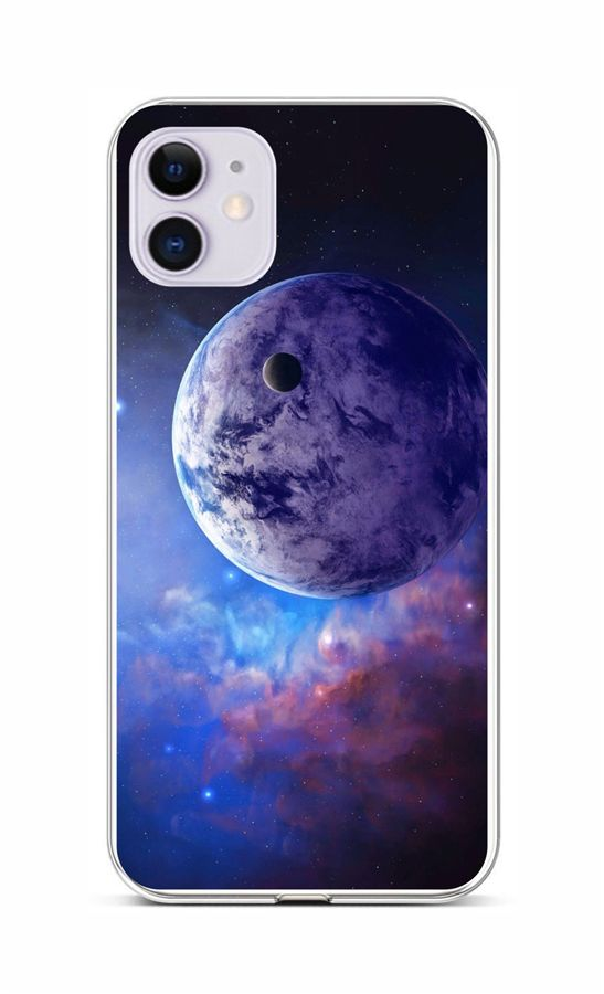 Zadní silikonový kryt na iPhone 11 Planeta