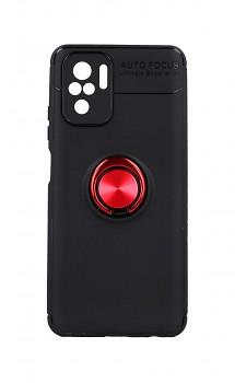 Zadní silikonový kryt na Xiaomi Redmi Note 10 černý s červeným prstenem
