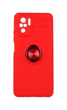 Zadní silikonový kryt na Xiaomi Redmi Note 10 červený s červeným prstenem