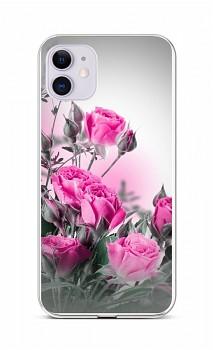 Zadní silikonový kryt na iPhone 11 Rozkvetlé růže