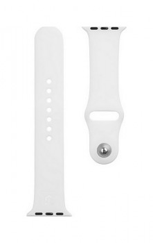 Silikonový řemínek Tactical 465 pro Apple Watch 3-4-5-6-SE 38-40mm bílý