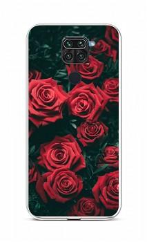Zadní silikonový kryt na Xiaomi Redmi Note 9 Červené růžičky