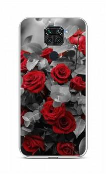 Zadní silikonový kryt na Xiaomi Redmi Note 9 Červené růže mix