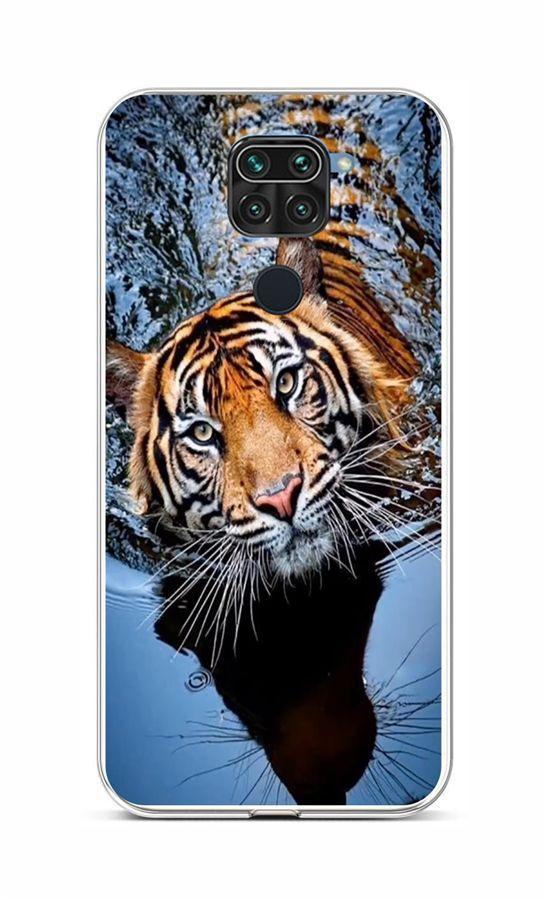 Zadní silikonový kryt na Xiaomi Redmi Note 9 Tygr