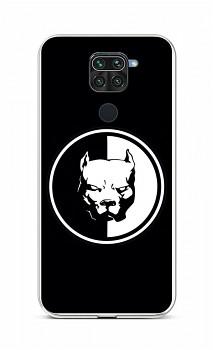 Zadní silikonový kryt na Xiaomi Redmi Note 9 Černobílý pitbull