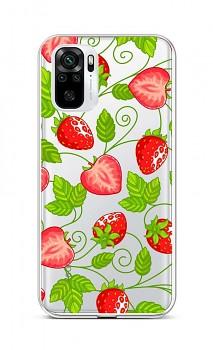 Zadní silikonový kryt na Xiaomi Redmi Note 10 Strawberries