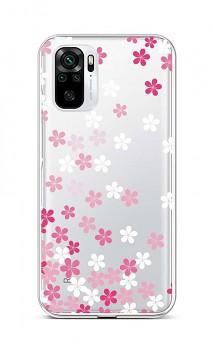 Zadní silikonový kryt na Xiaomi Redmi Note 10 Pink Blossom