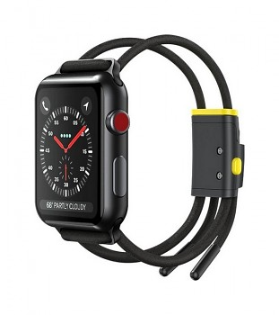 Řemínek Baseus Rope Strap pro Apple Watch 3-4-5-6-SE 42-44mm černý