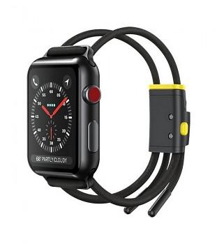Řemínek Baseus Rope Strap pro Apple Watch 3-4-5-6-SE 38-40mm černý