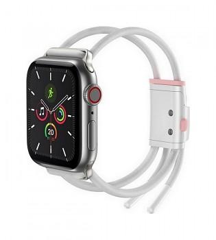 Řemínek Baseus Rope Strap pro Apple Watch 3-4-5-6-SE 38-40mm bílý