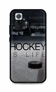 Zadní silikonový kryt DARK na Xiaomi Redmi Note 10 Pro Hockey Is Life