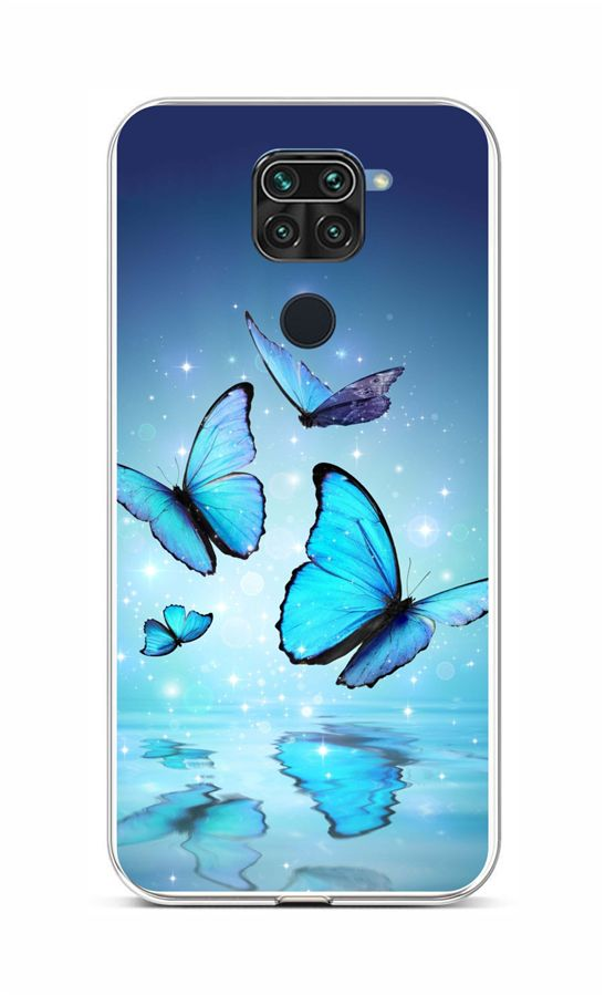 Zadní silikonový kryt na Xiaomi Redmi Note 9 Modří motýlci