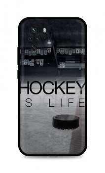 Zadní silikonový kryt DARK na Xiaomi Redmi Note 10 Hockey Is Life