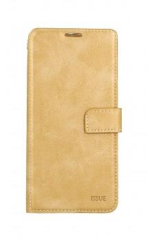 Knížkové pouzdro Molan Cano Issue Diary na Xiaomi Redmi Note 10 zlaté