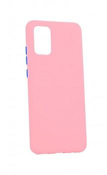 Zadní silikonový kryt Solid na Samsung A02s růžový