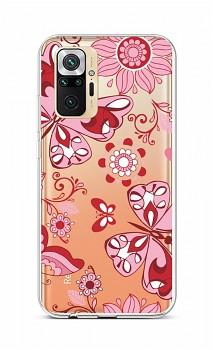 Zadní silikonový kryt na Xiaomi Redmi Note 10 Pro Pink Butterfly