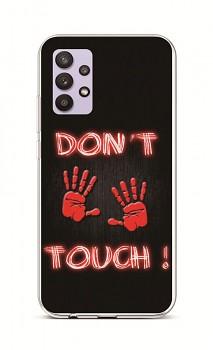 Zadní silikonový kryt na Samsung A32 Don't Touch Red