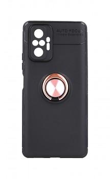 Zadní silikonový kryt na Xiaomi Redmi Note 10 Pro černý s měděným prstenem