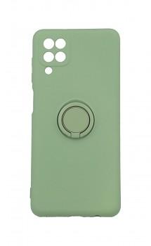 Zadní silikonový kryt RING na Samsung A12 zelený