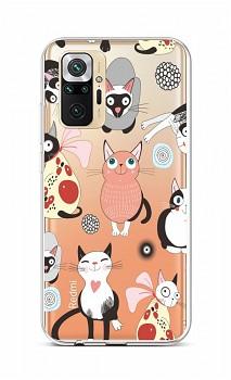 Zadní silikonový kryt na Xiaomi Redmi Note 10 Pro Cats 2