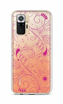 Zadní silikonový kryt na Xiaomi Redmi Note 10 Pro Pink Ornament