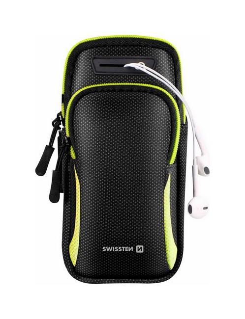 Univerzální sportovní pouzdro Swissten Arm Bag na ruku černé (sportovní obal) 59547