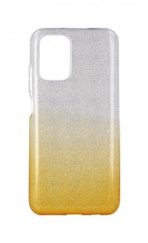 Zadní pevný kryt na Xiaomi Redmi Note 10 glitter stříbrno-oranžový