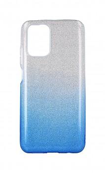Zadní pevný kryt na Xiaomi Redmi Note 10 glitter stříbrno-modrý