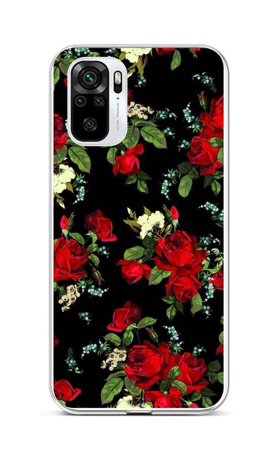 Zadní silikonový kryt na Xiaomi Redmi Note 10 Květy růží