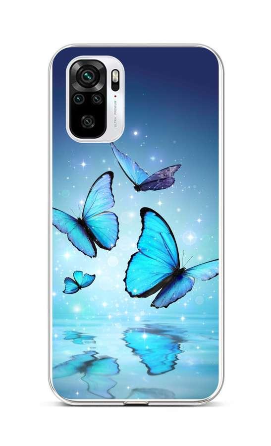 Zadní silikonový kryt na Xiaomi Redmi Note 10 Modří motýlci
